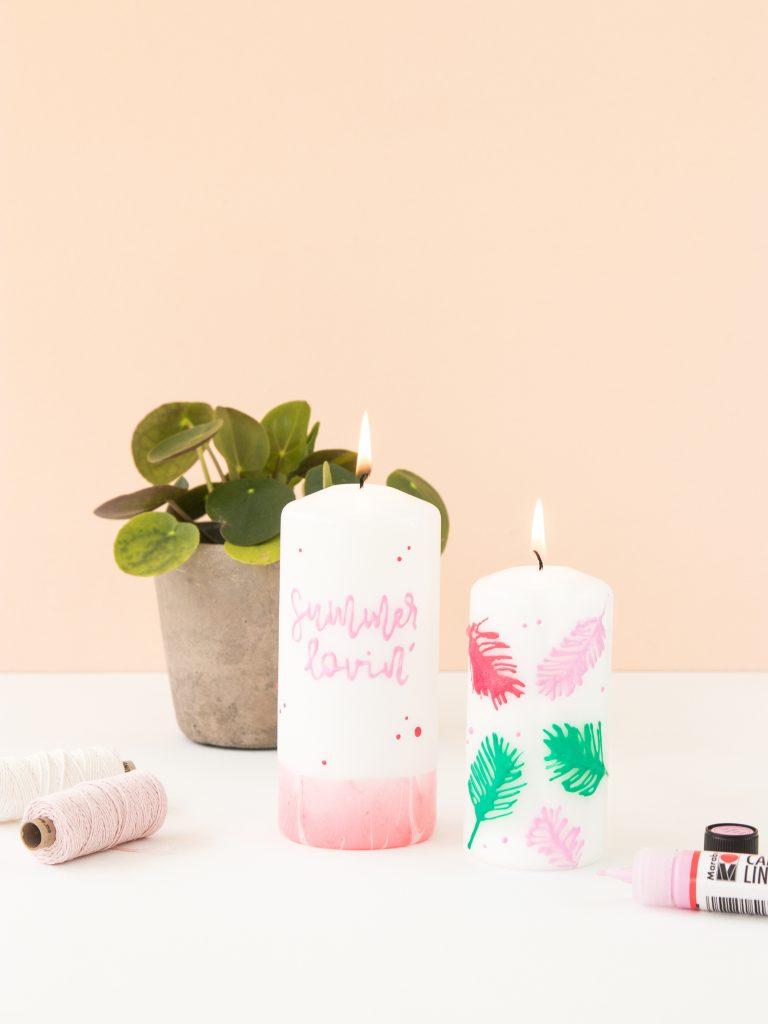 Kerzendeko für den Sommer