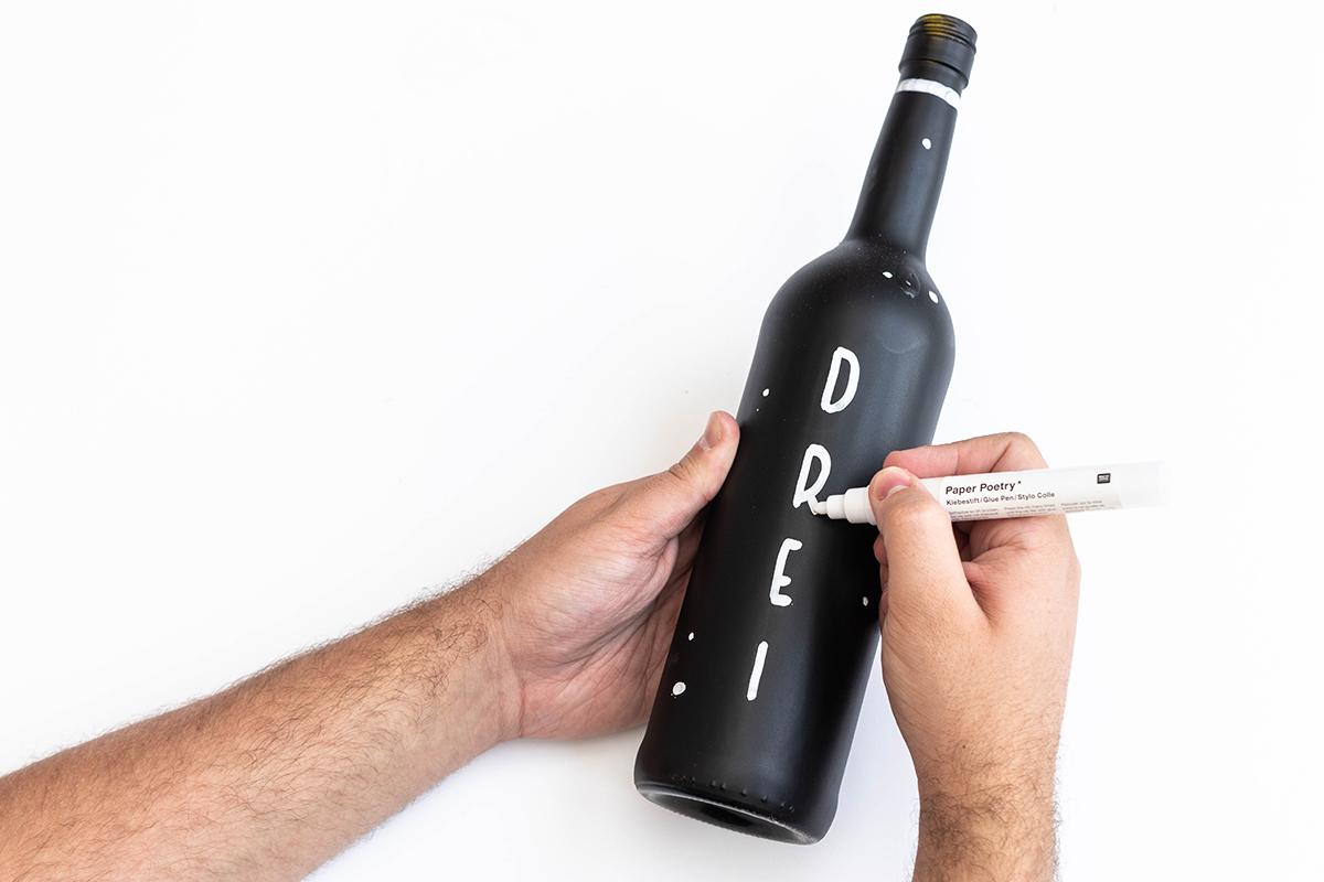 Adventskranz aus Flaschen
