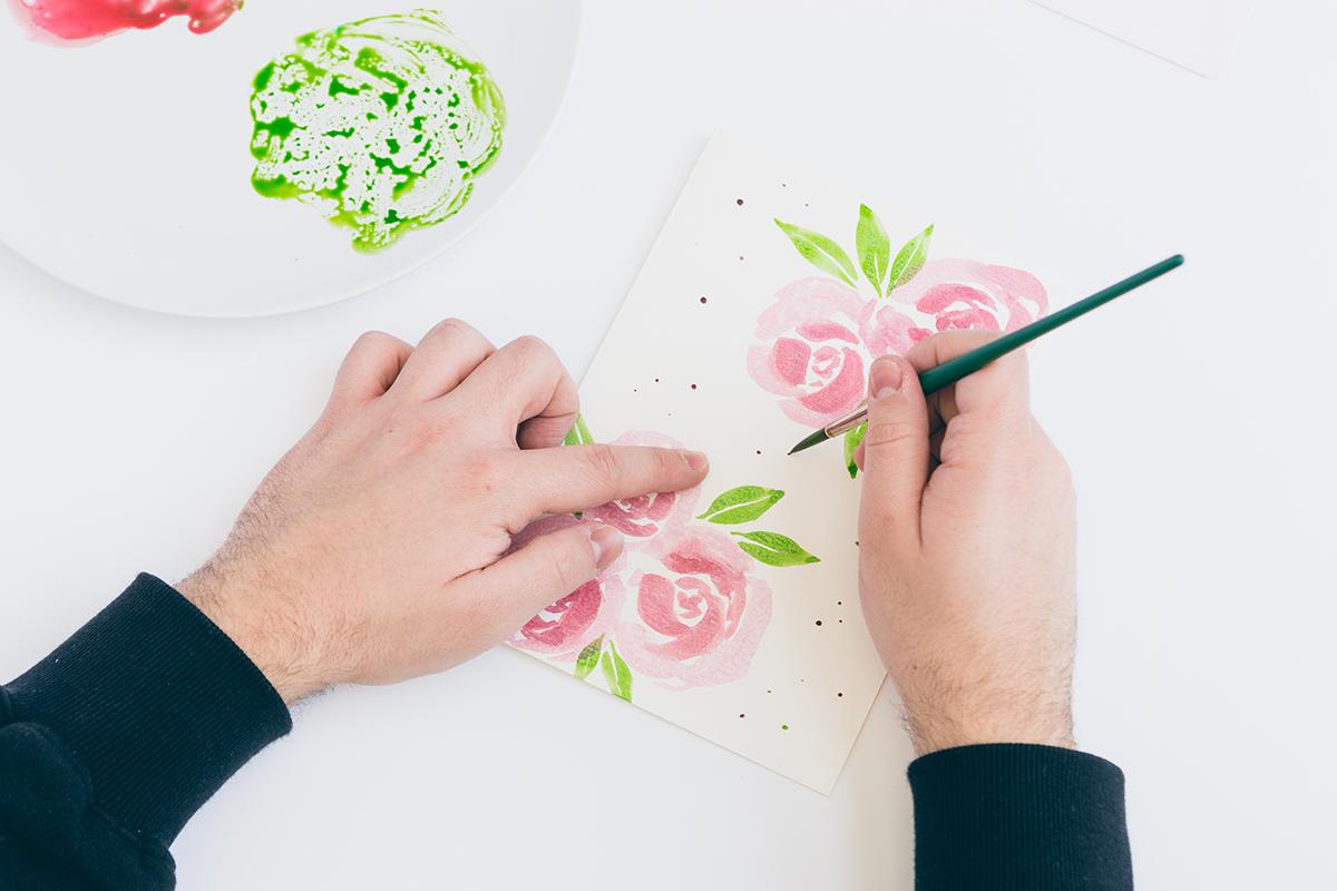 Valentinstagkarte basteln