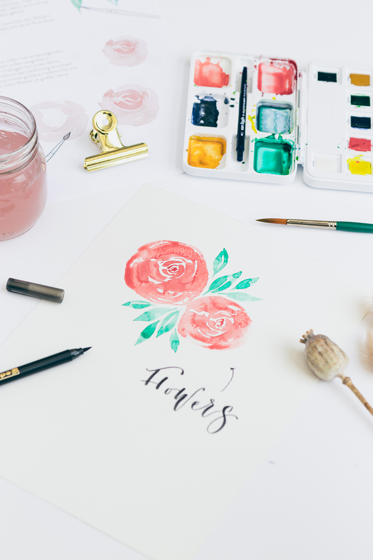 Lettering und Watercolor Workshop