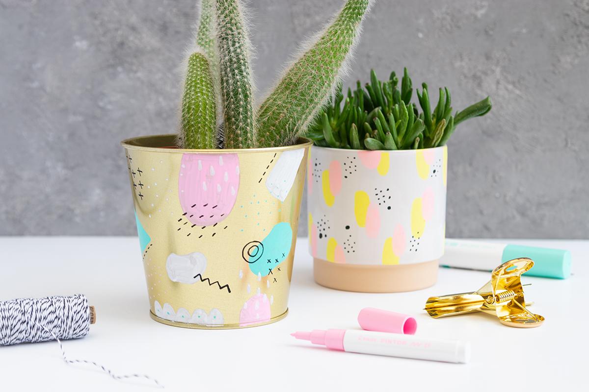 DIY Blumentöpfe verzieren