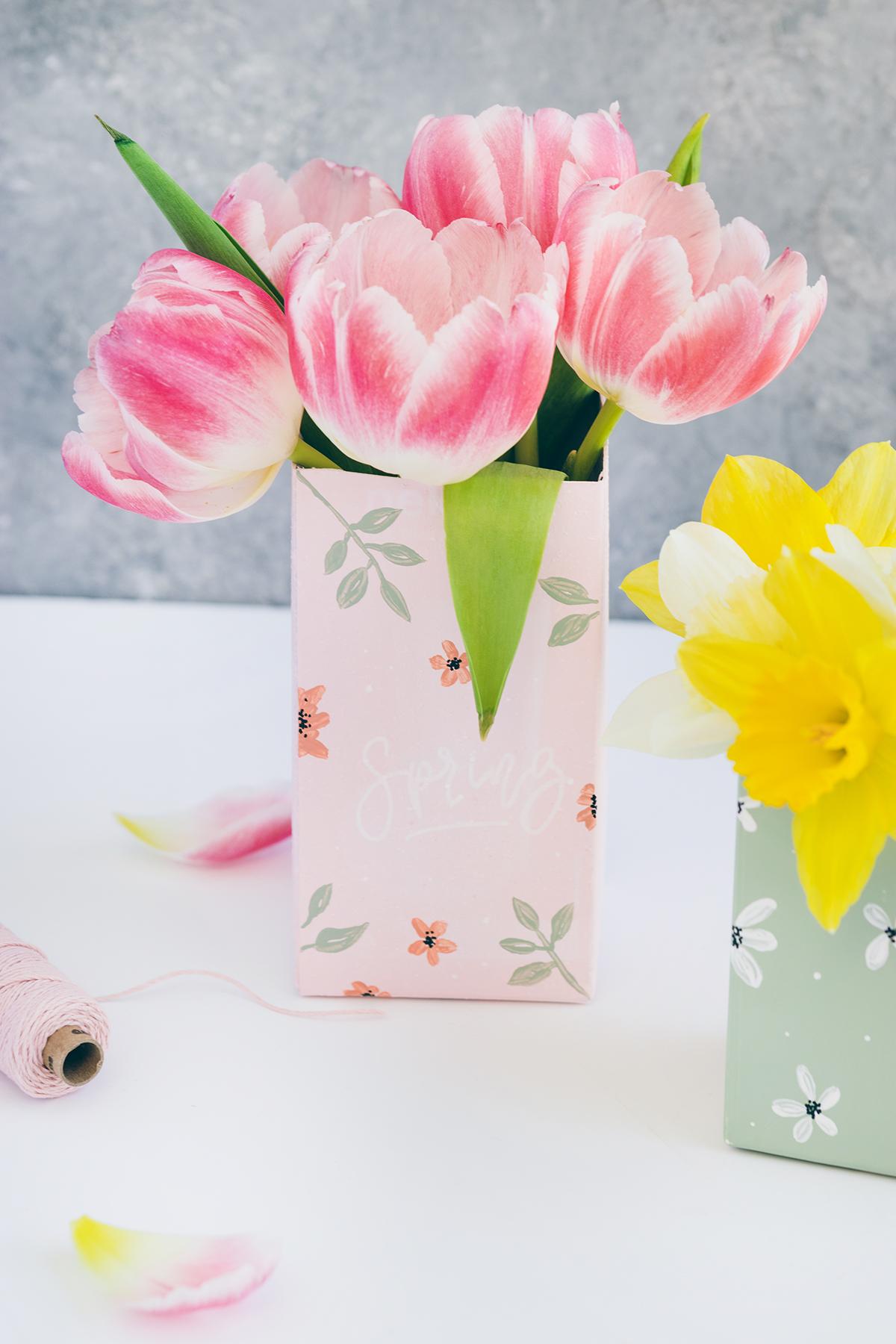 Tetrapack Upcycling Vasen