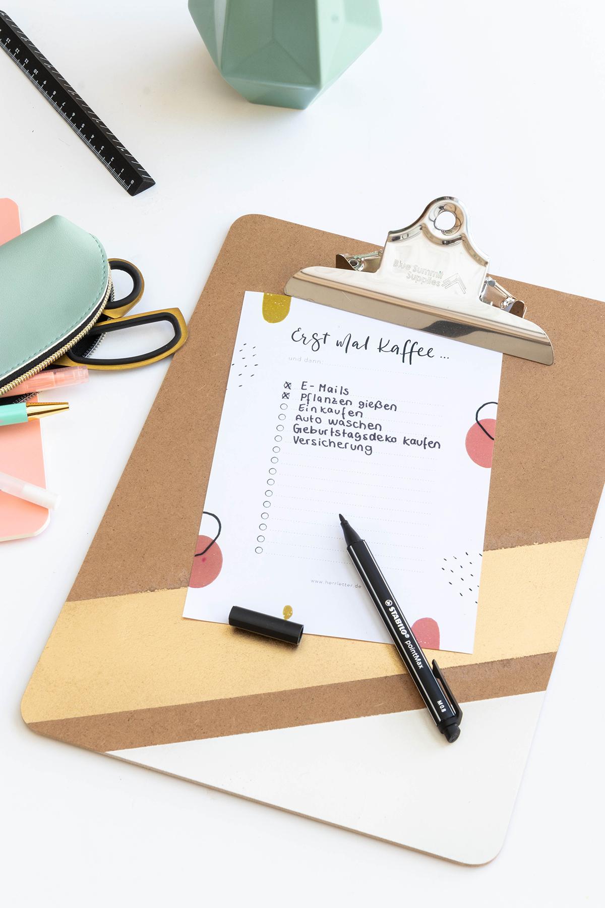 DIY Schreibtisch-Accessoires