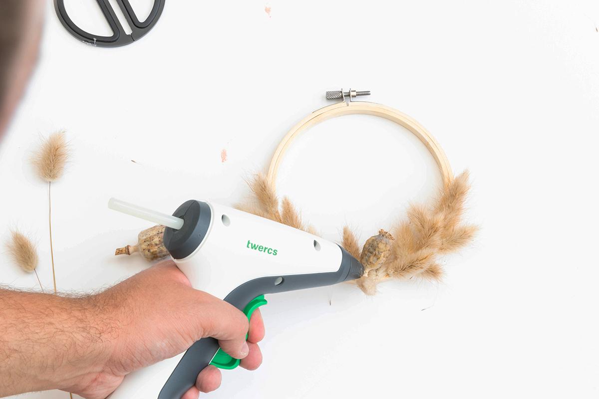 DIY Trockenblumenkranz basteln