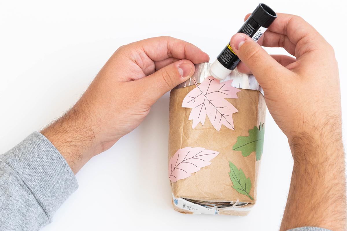 DIY Blumentopf aus Tetrapack