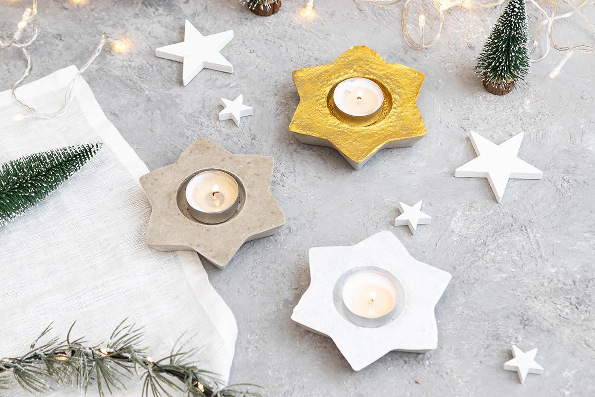 Weihnachtliche DIY Windlichter