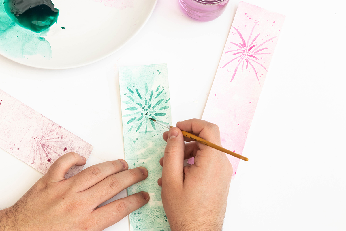 DIY Neujahrsgrußkarten basteln