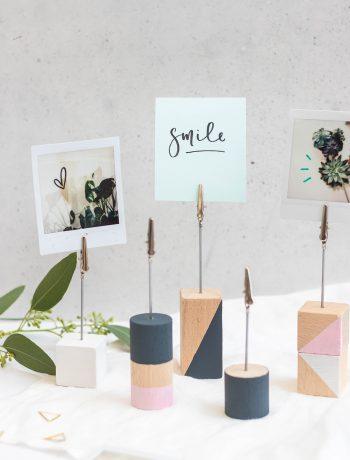 DIY Fotohalter aus Holz basteln
