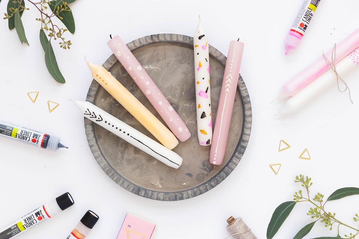 DIY Kerzen gestalten mit Candle Linern
