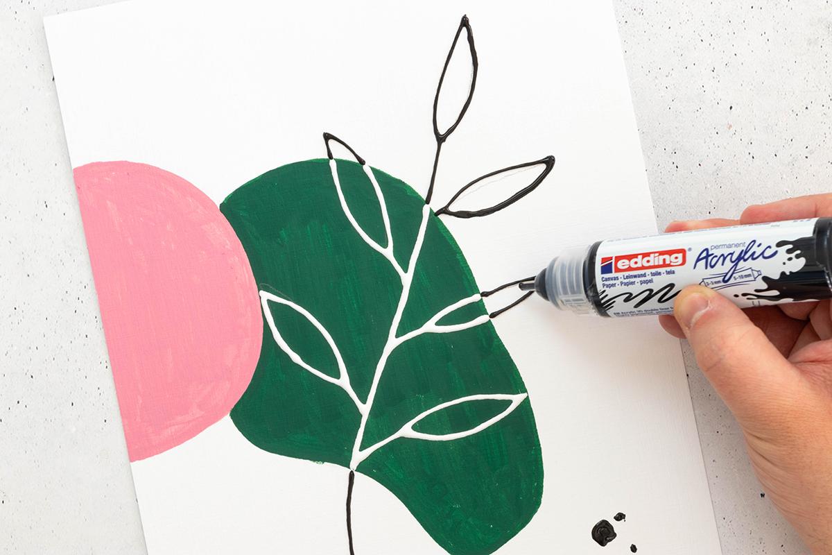 florale poster mit acryl malen