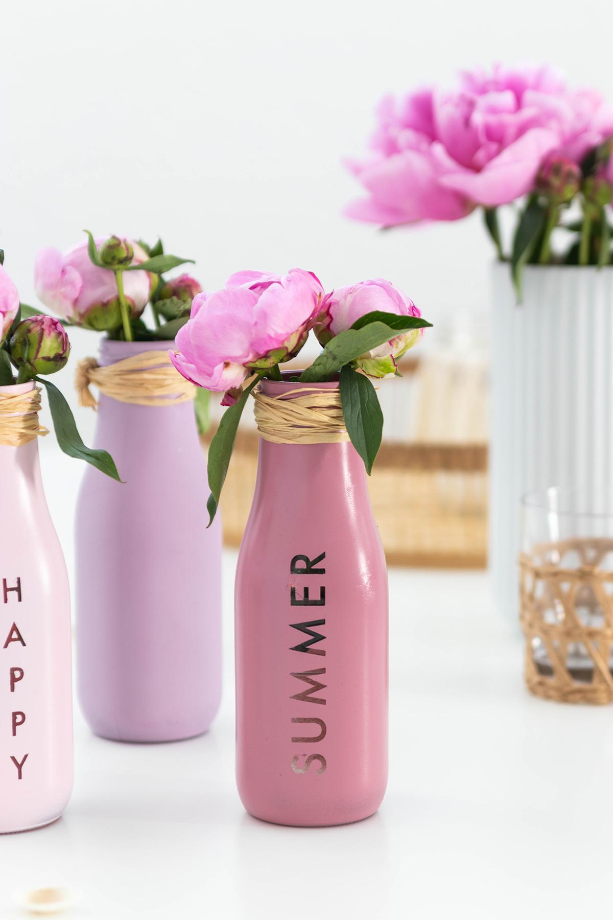 DIY Vasen mit Typo basteln