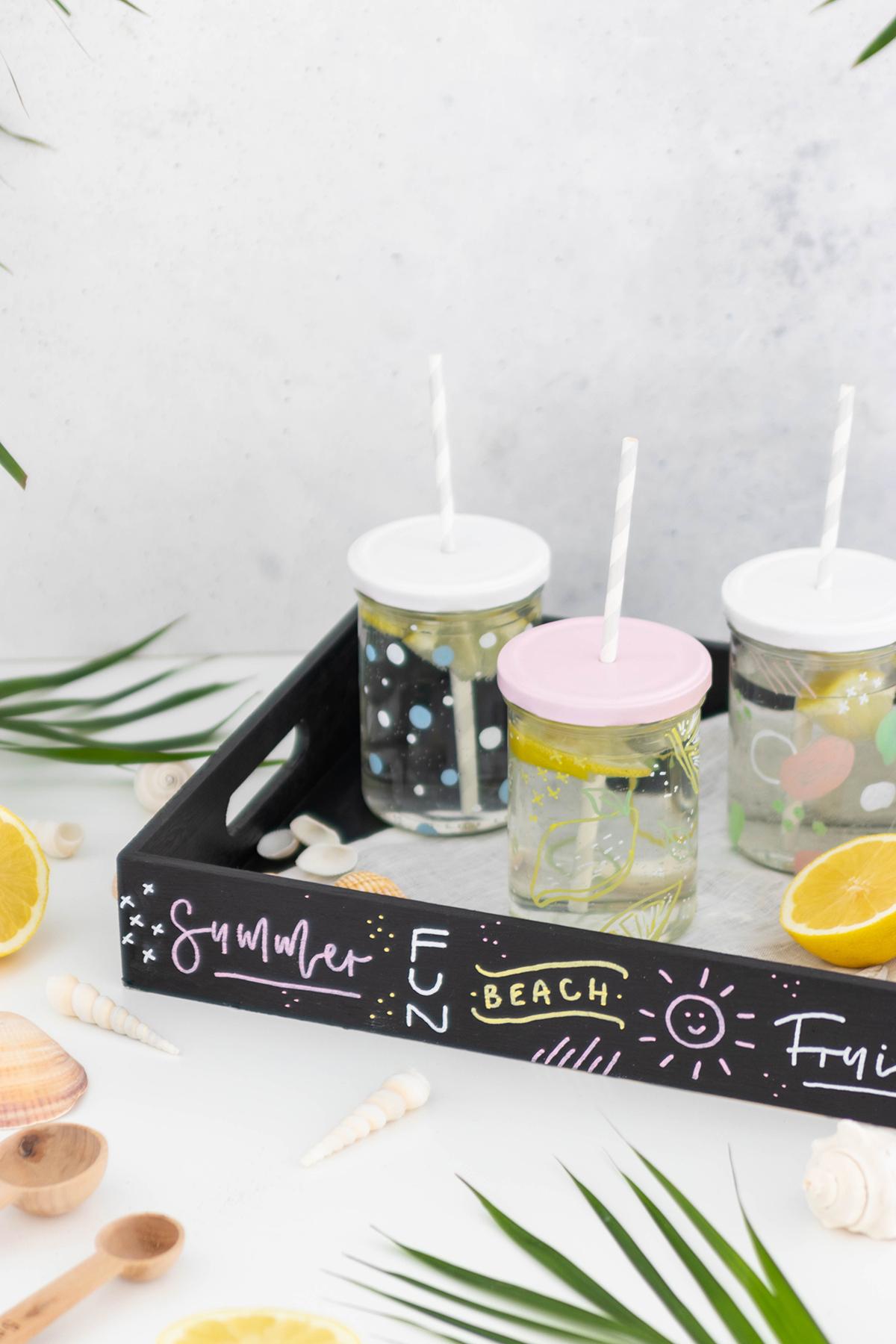 DIY Trinkgläser mit Insektenschutz